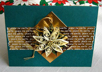 Quilled Poinsettia Card Tutorial