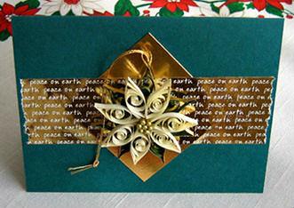 Quilled Poinsettia Card Tutorial