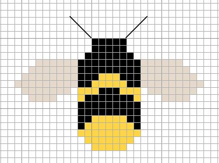 Bumblebee Cross-stitch Chart