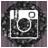 instagram black 48px