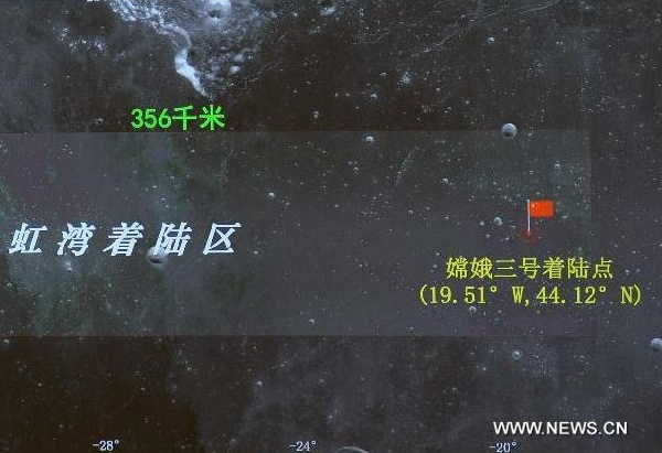 Chang'e-3 162 km east of announced target