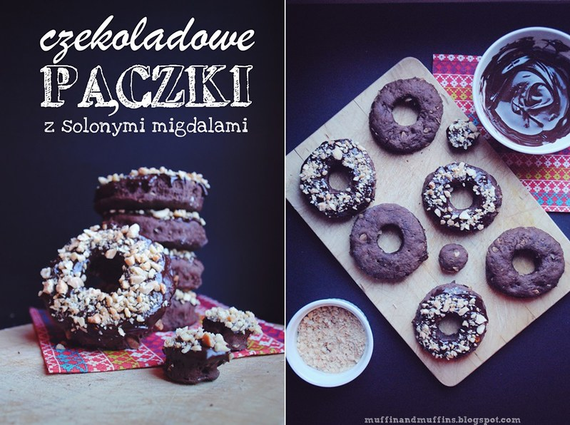 Baked Chocolate Doughnuts With Salted Almonds