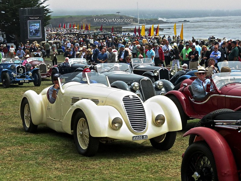 1934 Alfa Romeo 8C 2300 Spider Zagato at the Pebble Beach Concours d'Elegance