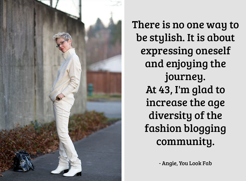 Angie, You Look Fab on being a 40+ fashion blogger