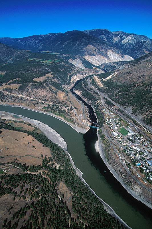 Confluence of the Thompson and Fraser Rivers at Lytton, northwest of Vancouver, British Columbia
