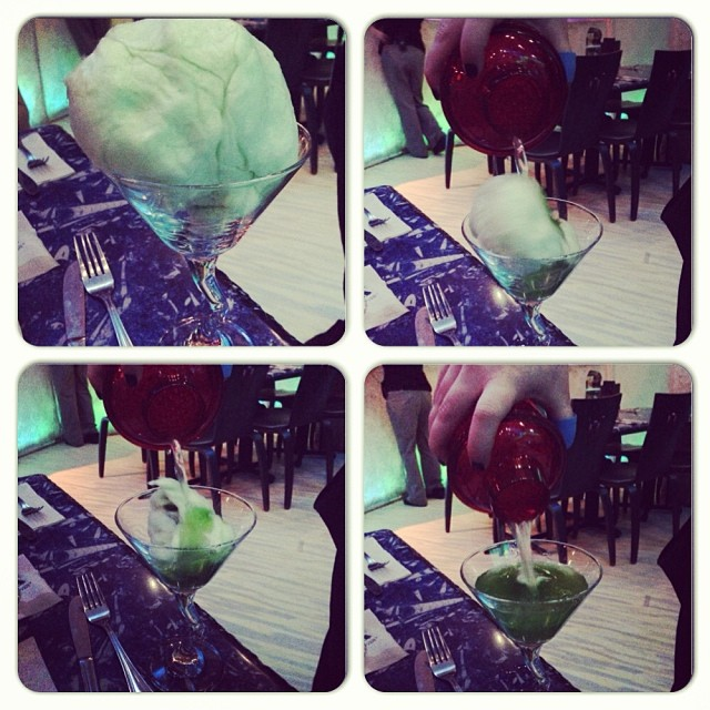 Cotton candy martini at T-Rex Restaurant, L.O.V.E. this!!!! #likemagic