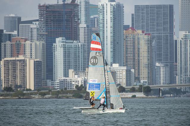 Laura Schöfegger & Elsa Lovrek: Sailing World Cup 2014, Miami FL