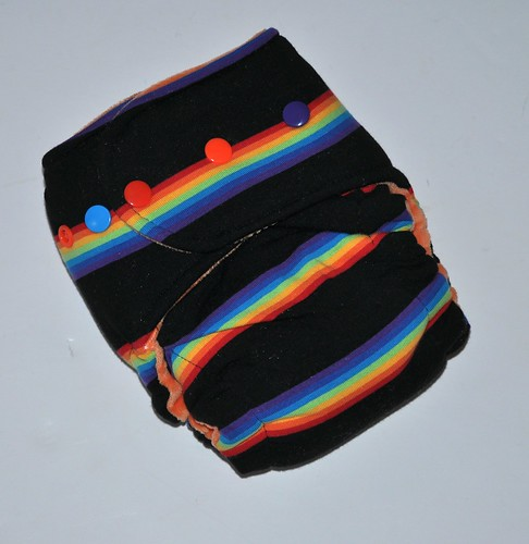 Bumstoppers MiniBum  Hybird Fitted Rainbow Noir Cotton Velour