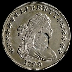 1799 dollar with octagonal counterstamp