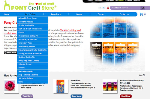 Pony Craft Store Website