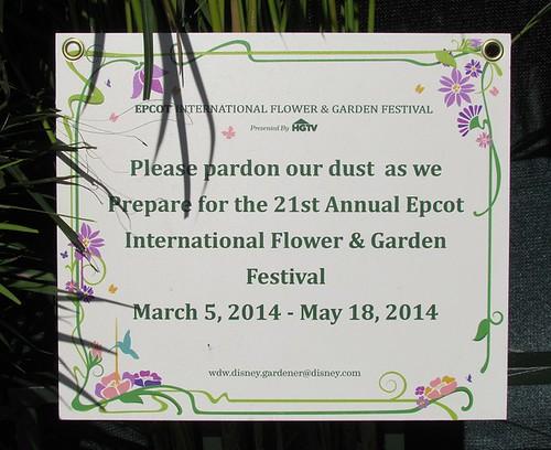 Epcot Flower & Garden Festival 2014 - Pre-Opening Preparations