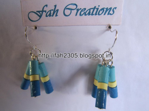 Handmade Jewelry - Paper Beads Earrings (13) by fah2305