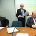 21/2/14 Minister for Finance Michael Noonan, with IFA President Eddie Downey and IFA General Secretry Pat Smith, get down to business at an IF Executive council meeting where an Agri-taxation review and sector expansion plans were discussed. Picture:  Finbarr O'Rourke NO REPRO FEE