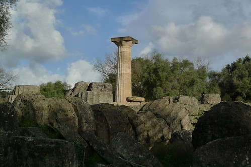 Lone Column - Temple of Zeus - Ancient Olympia, Greece