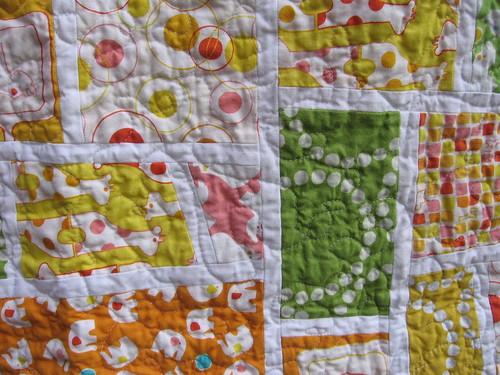 mod mosaic quilt detail