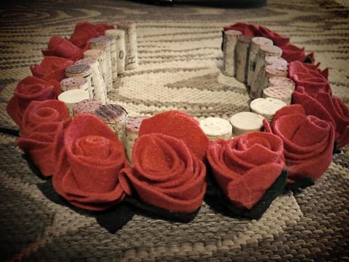 Rose Cork Horseshoe