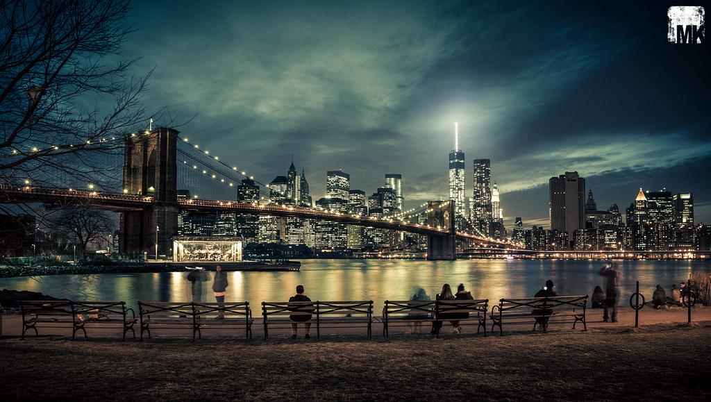 Nyc Skyline Brooklyn Bridge Park Shot Taken At The