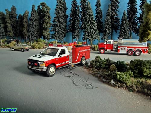 Matchbox Trucksville Pennsylvania Volunteer Fire Dept. Engine 56