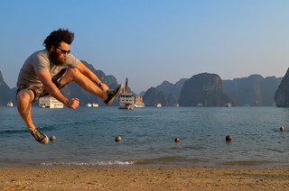 Ninja Kick at Halong Bay
