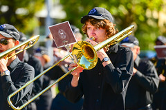 marching band(1.0), musician(1.0), trombone(1.0), musical ensemble(1.0), musical instrument(1.0), music(1.0), brass instrument(1.0),