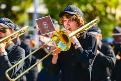 marching band(1.0), musician(1.0), trombone(1.0), musical ensemble(1.0), musical instrument(1.0), music(1.0), brass instrument(1.0),