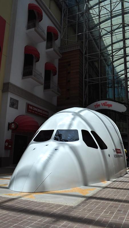 Flight simulator at Dubai Mall