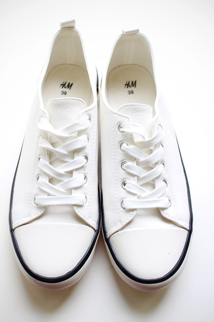 H&M Spring/Summer 2014 collection shoes: white converse all stars look a like sneakers