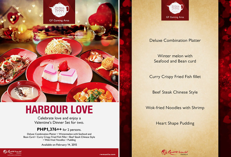 Valentine's Menu at Victoria Harbour