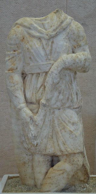 Marble statuette of Cautopates, found in the Central Baths of Turris Libisonis, middle of 3rd century AD, Antiquarium Turritano, Porto Torres, Sardinia