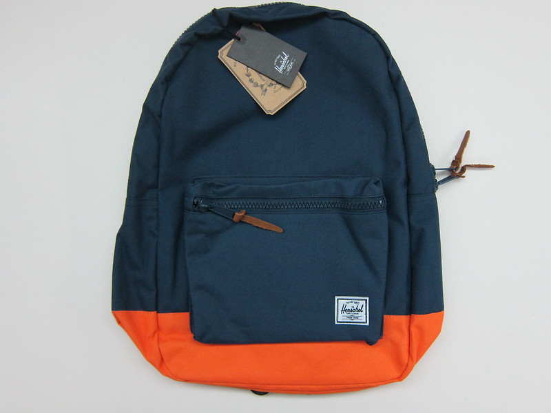 Herschel Supply Settlement Backpack (Navy/Mandarin) - Front