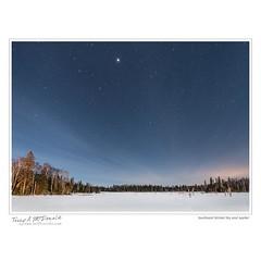 Southeast Winter Sky and Jupiter