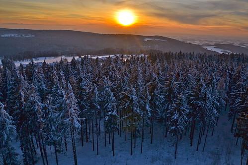 schnee winter sunset sky sun snow clouds forest austria evening abend österreich sonnenuntergang himmel wolken february sonne wald oberösterreich februar upperaustria mühlviertel breitenstein kirchschlag nikond3100
