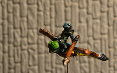 Frogman riding Dragonfly