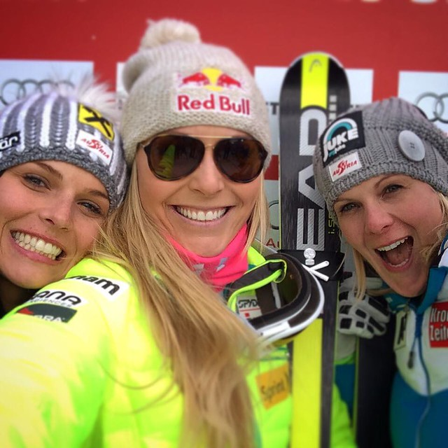 Lindsey Vonn after win 63 at Kitz