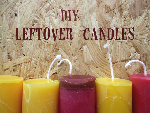 DIY leftover candles upcycling tutorial