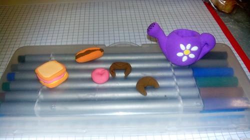 Experimentando con pasta de modelar (secado en 24 horas)