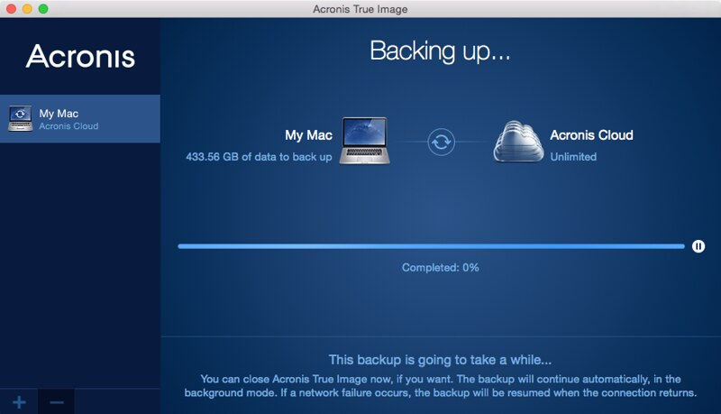 Acronis True Image 2015 - Settings - Backing Up