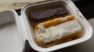 Peanut Caramel Slice and Vanilla Slice from Cherry Darlings