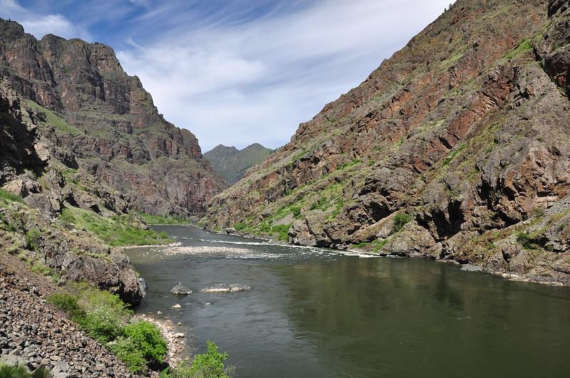 Downstream of the dam