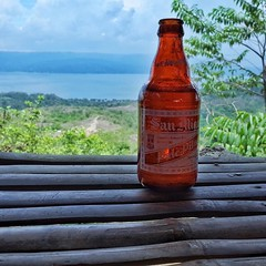 Cold beer atop #taalvolcano is the perfect refresher. It doesn't always need to be a #craftbeer to be a great #Beer experience. #Philippines
