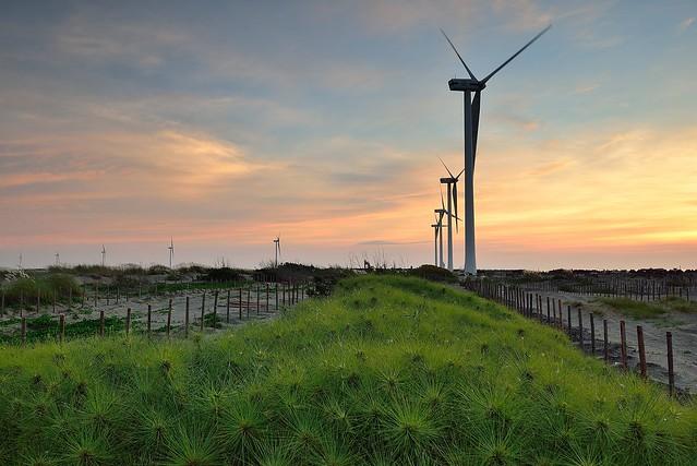The windturbines 彰濱風車