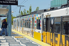 LOS ANGELES--131 arr Expo/Bundy Station OB