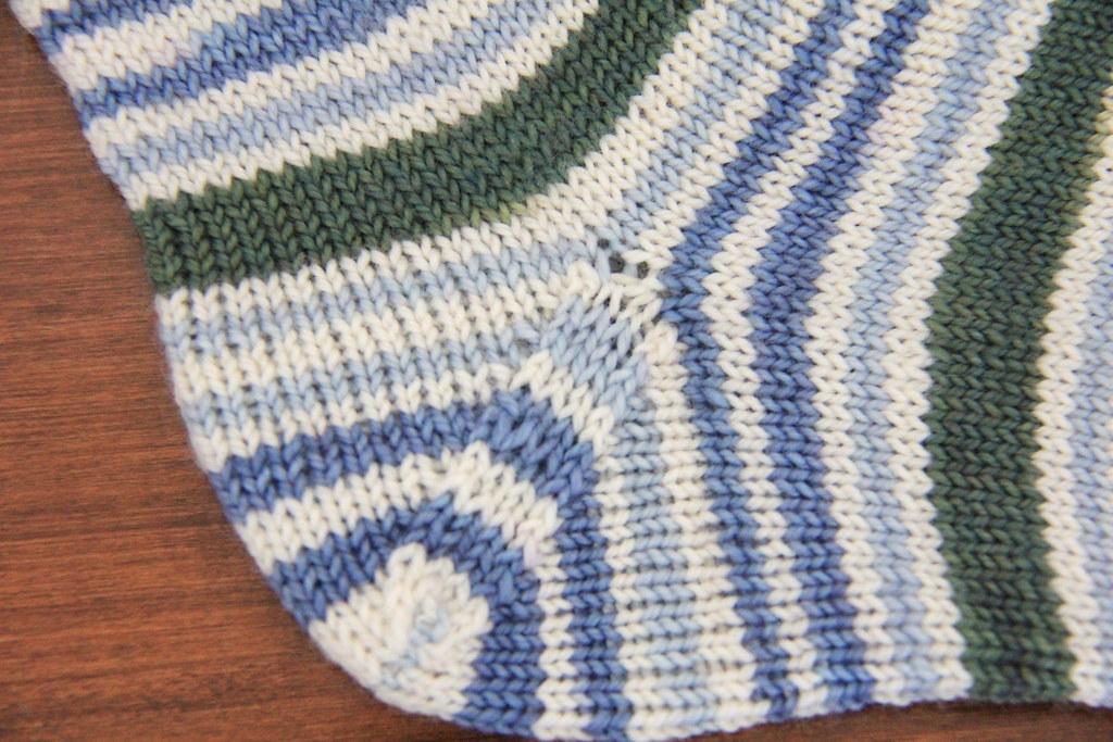 Springtime Socks Heel Detail | Done in Coloring Book Yarns S ...