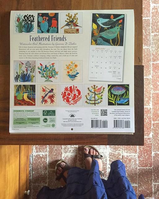 Forgot to show you the back of the 2017 wall calendar I did with @amberlotuspublishing  📅 Se me había olvidado mostrarles la parte de atrás del calendario de pared que hice con Amber Lotus