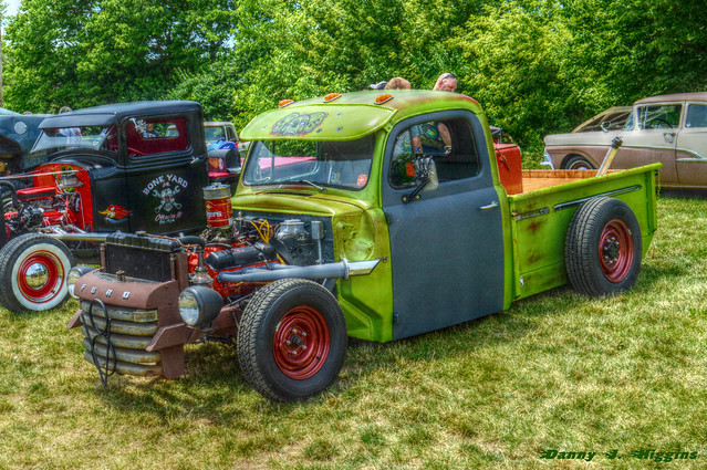 Car & Motorcycle Show & Swap Meet At The Psycho Silo Saloon In Langley, Illinois.     109