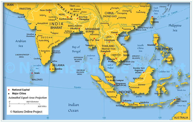 Map of Asia