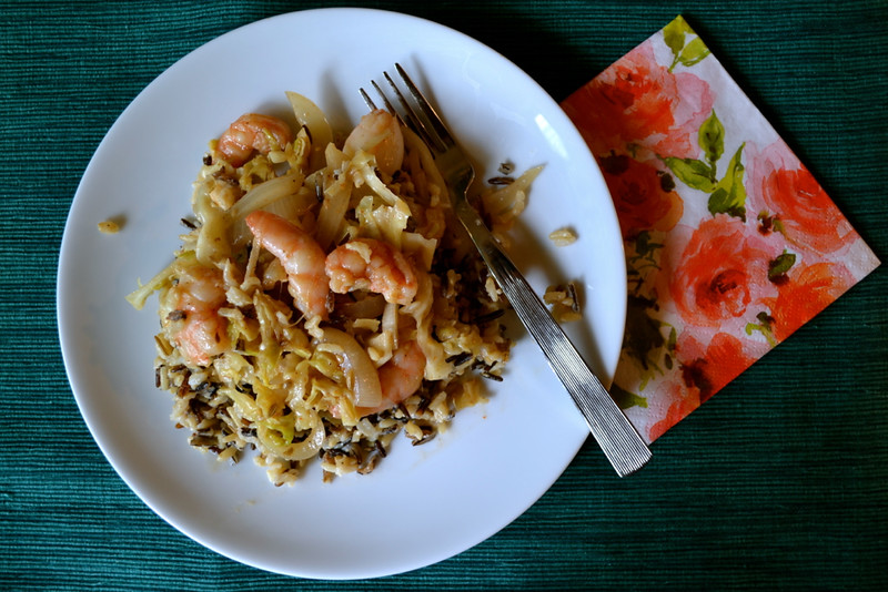 indian stir fried cabbage and shrimp | things i made today