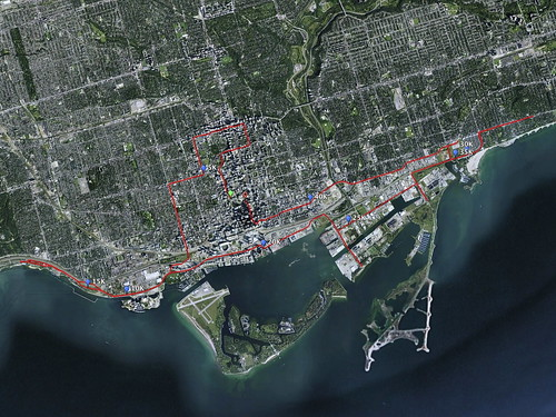 Toronto Waterfront Marathon Race Route