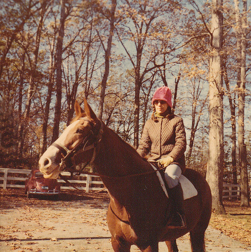 1970s - Mom on horse