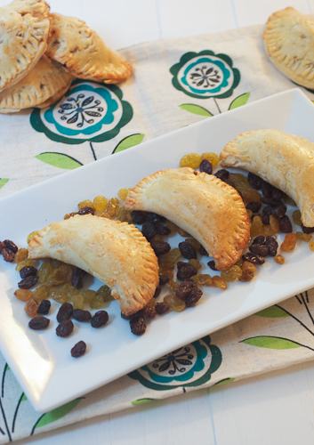 Chicken, Goat Cheese, Sun-Dried Tomato & Raisin Empanadas